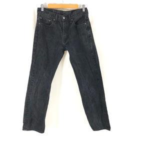Levis Mens Jeans 505 Regular Fit Black Size 32x32